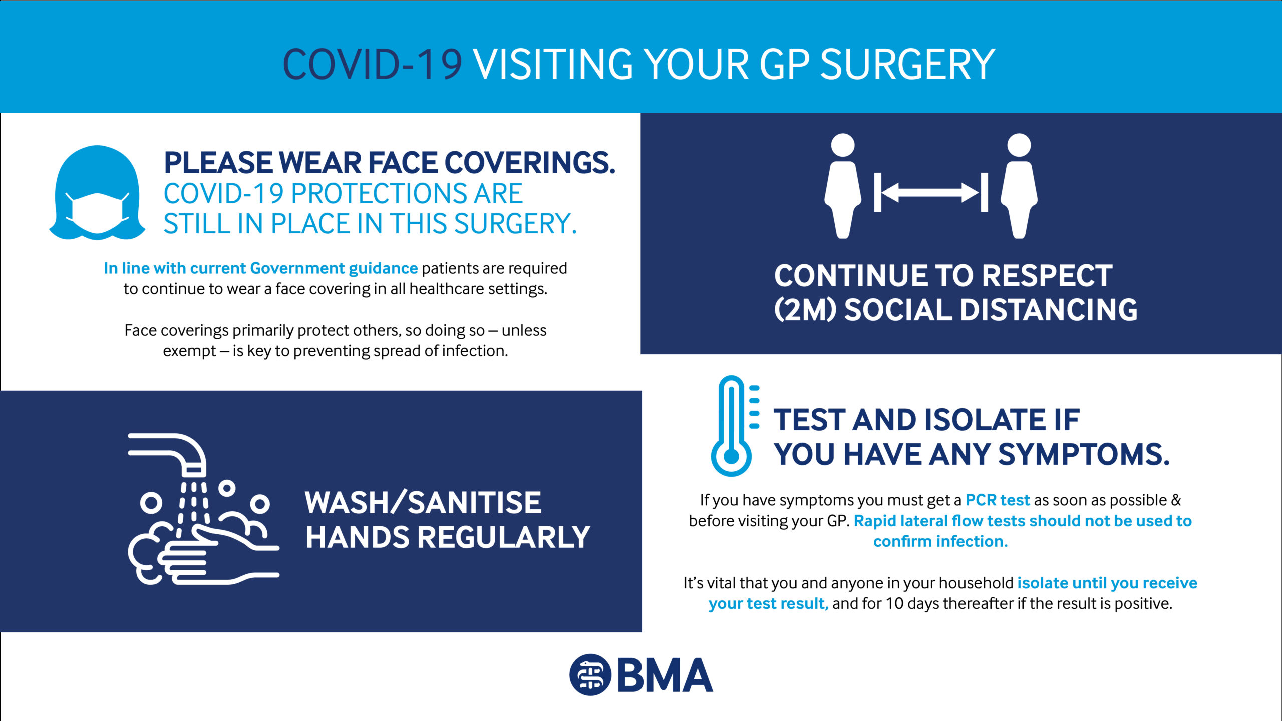 banner regarding visiting your local gp surgery